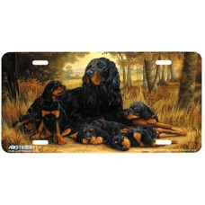 Gordon Setter Dog Airbrushed License Plate