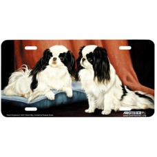 Good Companions- Japanese Chin Dongs Airbrushed License Plate