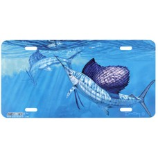 Sails under the Kites- Swordfish Airbrushed License Plate