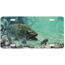 Honey Creek Smallmouth Fish Airbrushed License Plate
