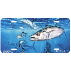Kings and Threadfins Fish Airbrshed License Plate