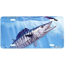 Wahoo and Islander Lure Fish Airbrushed License Plate