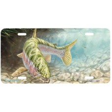 Spring Creek Nymphing Fish Airbrushed License Plate