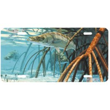 Snook in the Mangroves Fish Airbrushed License Plate