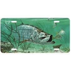 Marquesas Keys Tarpon Fish Airbrushed License Plate