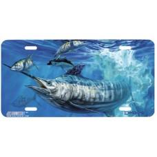 Fish & Ocean - Blue and Allisons Swordfish License Plate