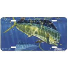 Green Mahi Fish License Plate
