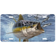 Approaching Front Fish Airbrushed License Plate