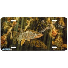 Snook and Goliath Fish Airbrushed License Plate