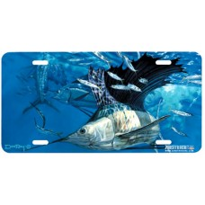 Hit and Miss Fish Airbrushed License Plate