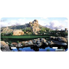 Number One at Boulders- Bear Airbrushed License Plate
