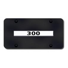 Chrysler 300 Chrome on Black License Plate