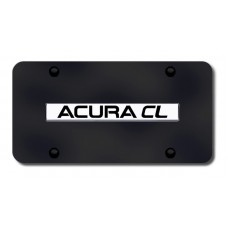 Acura CL Chrome on Black License Plate