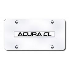 Acura CL Chrome on Chrome License Plate