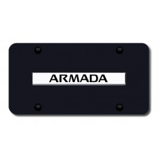 Nissan Armada Chrome on Black License Plate