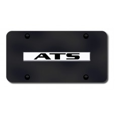Cadillac ATS Chrome on Black License Plate