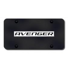 Dodge Avenger Chrome on Black License Plate
