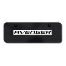 Dodge Avenger Chrome on Black Mini License Plate