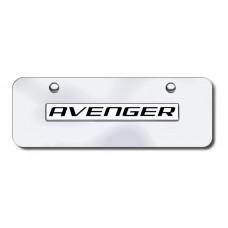 Dodge Avenger Chrome on Chrome Mini License Plate