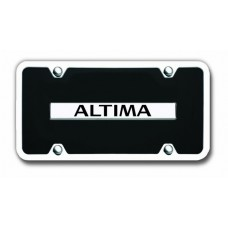 nissan altima chrome on black with chrome frame license plate