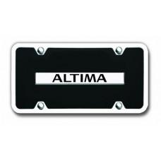 Nissan Altima Chrome on Black with Chrome Frame License Plate