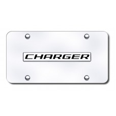 Dodge Charger Chrome on Chrome License Plate