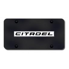 Dodge Durango Citadel Chrome on Black License Plate