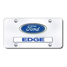 Dual Ford Edge Chrome on Chrome License Plate