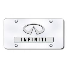 Infiniti Logo Chrome on Chrome License Plate