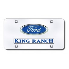 Dual Ford King Ranch Chrome License Plate