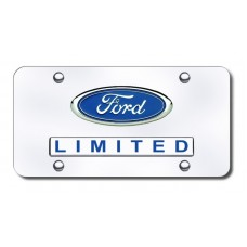 Dual Ford Limited Chrome License Plate
