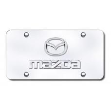 Mazda Logo Chrome on Chrome License Plate