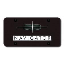 Lincoln Navigator Chrome on Black License Plate