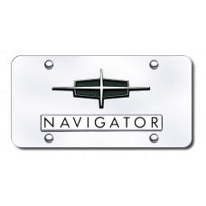 Lincoln Navigator Black on Chrome License Plate