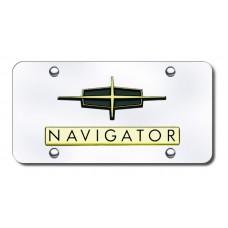 Lincoln Navigator Gold on Chrome License Plate