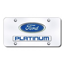 Dual Ford Platinum Chrome License Plate