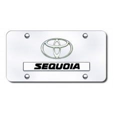 Toyota Sequoia Chrome on Chrome License Plate