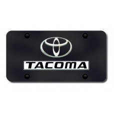 Toyota Tacoma Chrome on Black License Plate