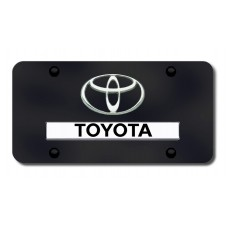 Toyota Chrome on Black License Plate