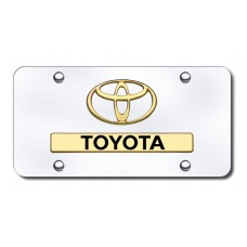 Toyota Gold on Chrome License Plate