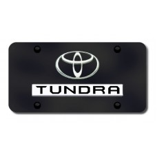 Toyota Tundra Chrome on Black License Plate