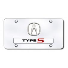 Acura Type S Chrome on Chrome License Plate