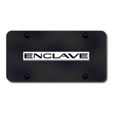 Buick Enclave Chrome on Black License Plate