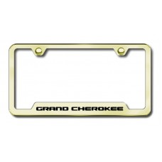 jeep grand cherokee laser etched gold license plate frame