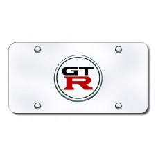 Nissan GTR Chrome License Plate
