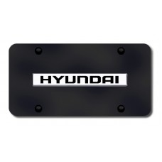 Hyundai Chrome on Black License Plate