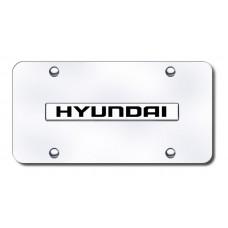 Hyundai Chrome on Chrome License Plate