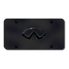 Infinti Logo Chrome on Black License Plate