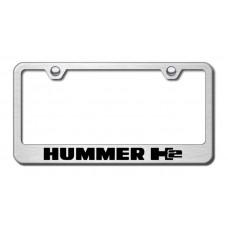 Hummer H2 Brushed Steel Laser Etched License Plate Frame