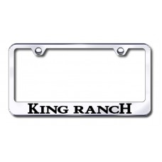 King Ranch Chrome Laser Etched License Plate Frame